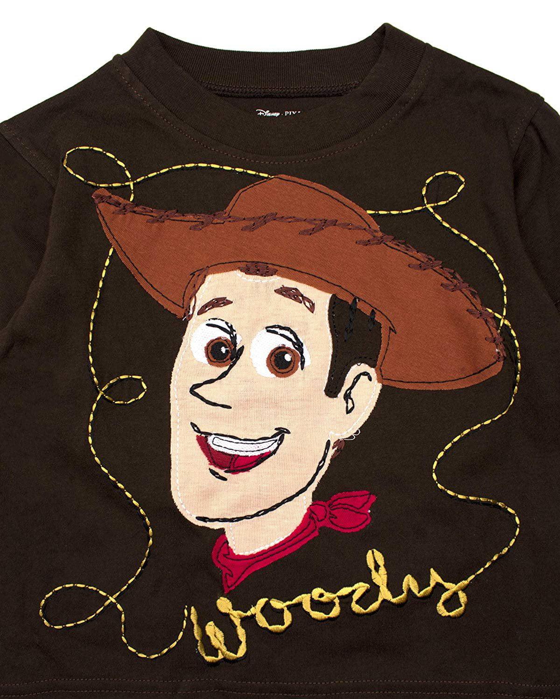 bb2d1ab47 Toy Story Long Sleeve Shirt - Disney Pixar Buzz Lightyear and Sheriff Woody  Long Sleeve T-Shirt (Black/Yellow, 2T) - Walmart.com