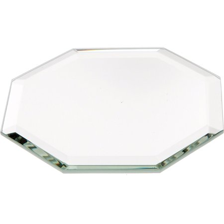 "Beveled Glass Mirror, Octagonal 3mm - 3"" Diameter"