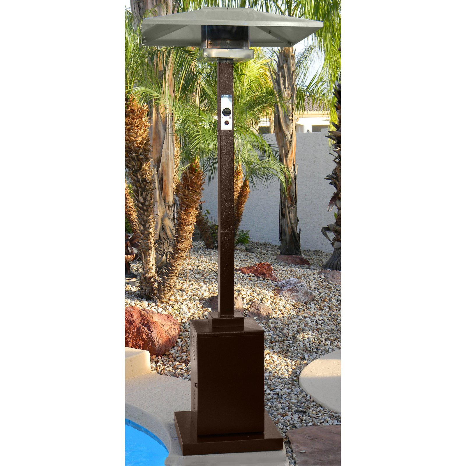 AZ Patio Heater Tall Commercial Hammered Bronze Patio Heater by Patio Heaters