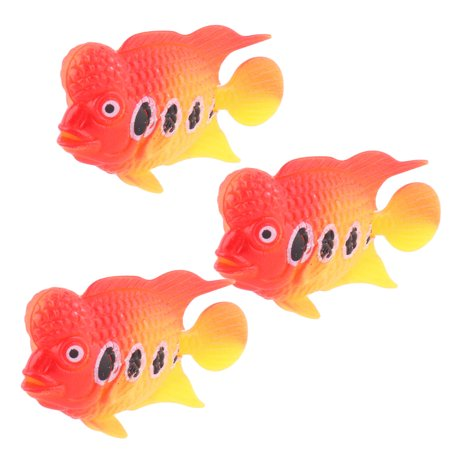 3 pcs Plastic Fish Aquarium Tank Ornament Decoration Ymbkw