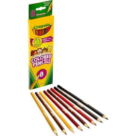 Crayola, CYO684208, Multicultural Color Pencils, 8 / - Colored Pencil Skin Tones