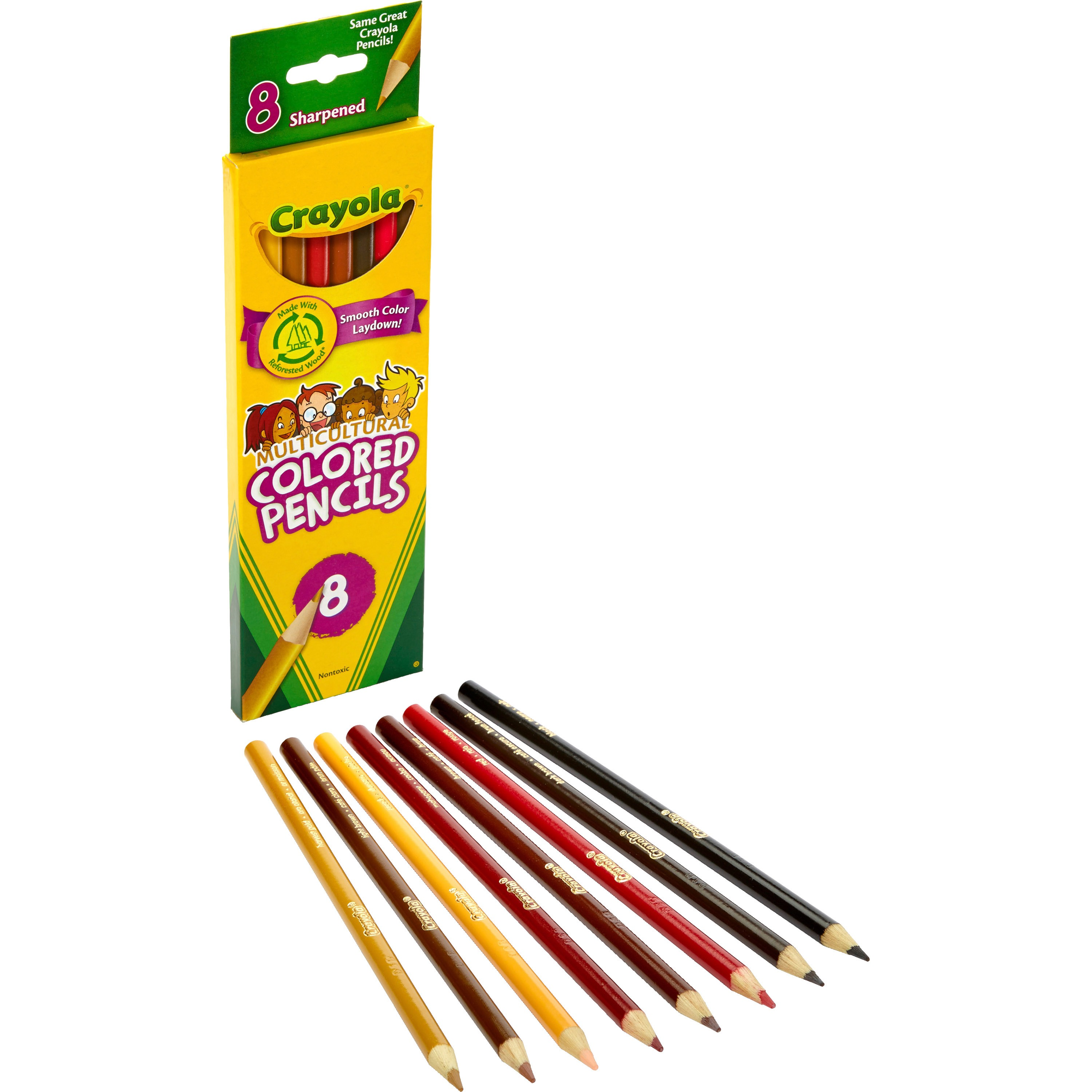 Crayola, CYO684208, Multicultural Color Pencils, 8 / Set