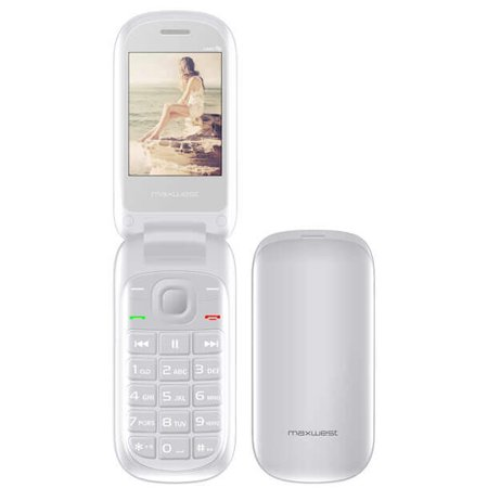 Blue Ultra Slim Cellular Phone - Maxwest UNO Flip 2G 2.4