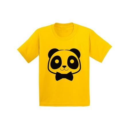 Awkward Styles Youth Dapper Panda Bear With Bow Tie T-shirt