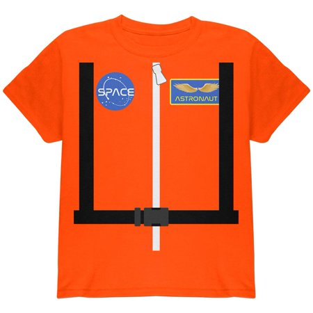 Halloween Astronaut Costume Orange Escape Suit Youth T Shirt - Halloween Escape