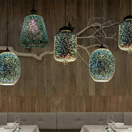Moaere Creativity 3D LED Ceiling Lights Modern Chandelier Glass Pendant Lamp Fixture for Kitchen Hallway Bathroom Bar ()