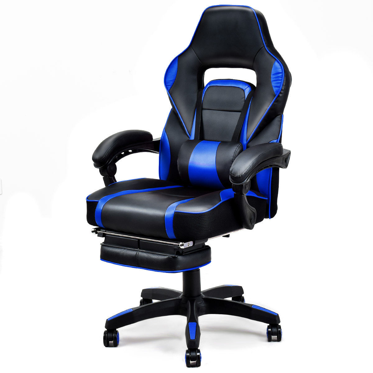 Gymax Office Home Racing Style Executive High Back Gaming Chair W/ Ottoman