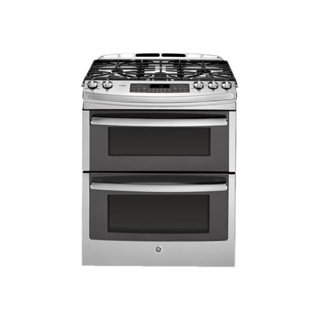GE Profile PGS950SEFSS - Range (double oven) - built-in - width: 30 in - depth: 29.5 in - height: 39.3 in - with self-cleaning - stainless steel/gray