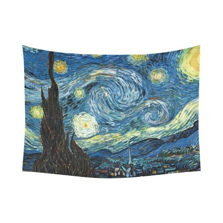 CADecor Surreal Classic Art Painting The Starry Night Wall Tapestry Wall Hanging Wall Art Home Decor 60x80 inches