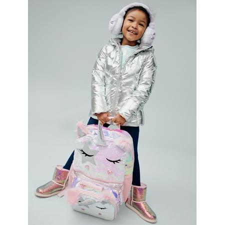 Wonder Nation Cozy Sequin Faux Shearling Boot (Little Girls & Big Girls)