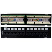 CableWholesale 68PP-03012-10 Wall Mount 12 Port Cat 5e Patch Panel  110 Type  568A  568B Compatible  10 inch