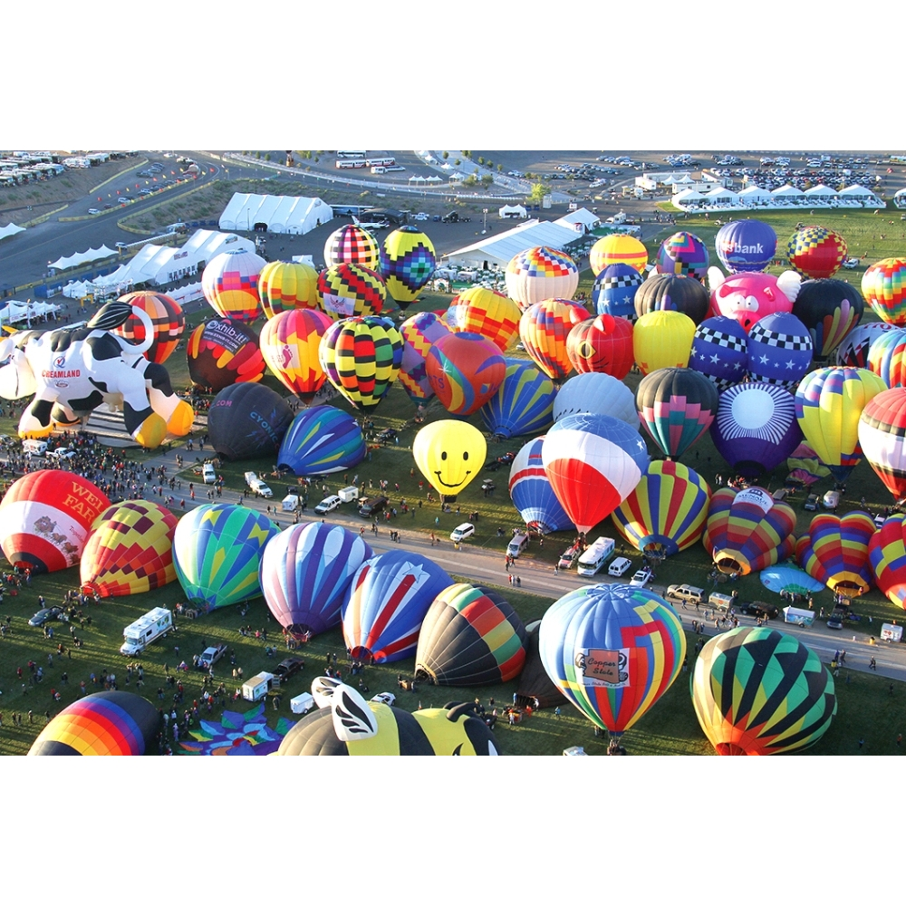 Hot Air Balloons on the Ground 1000 Piece Puzzle