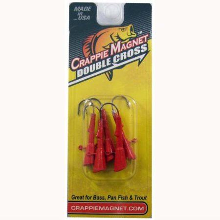 - LELAND LURES Leland Crappie Magnet Replacement Heads 5ct 1/8oz Red CMRH-18RD