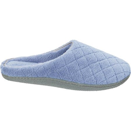 Dearfoams Womens Leslie Quilted Microfiber Terry Clog slippers - Shark Slippers Adult