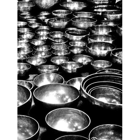 Canvas Print Bronze Bells Tibetan Stretched Canvas 10 x