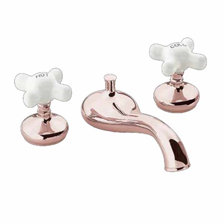 Tub Faucet Heavy Brass Porcelain Cross Handles Deck Mount| Renovator's Supply Mount Bathtub Faucet Porcelain Cross