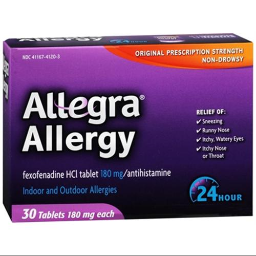 Allegra 24 Hour Allergy Tablets 30 Tablets (Pack of 4)