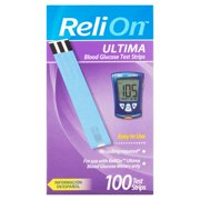 ReliOn Ultima Blood Glucose Test Strips, 100 Ct