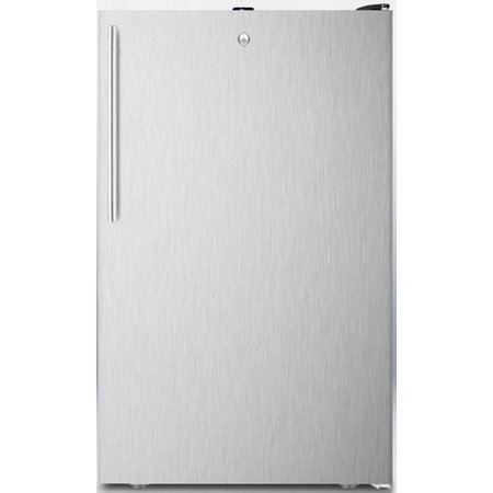 """FF521BLSSHVADA 20"""" AccuCold Series ADA Compliant Medical Freestanding Compact Refrigerator with 4.1 cu. ft. Capacity  Auto Defrost  Adjustable Glass Shelves and Thermostat  Interior Light and Door Loc"""