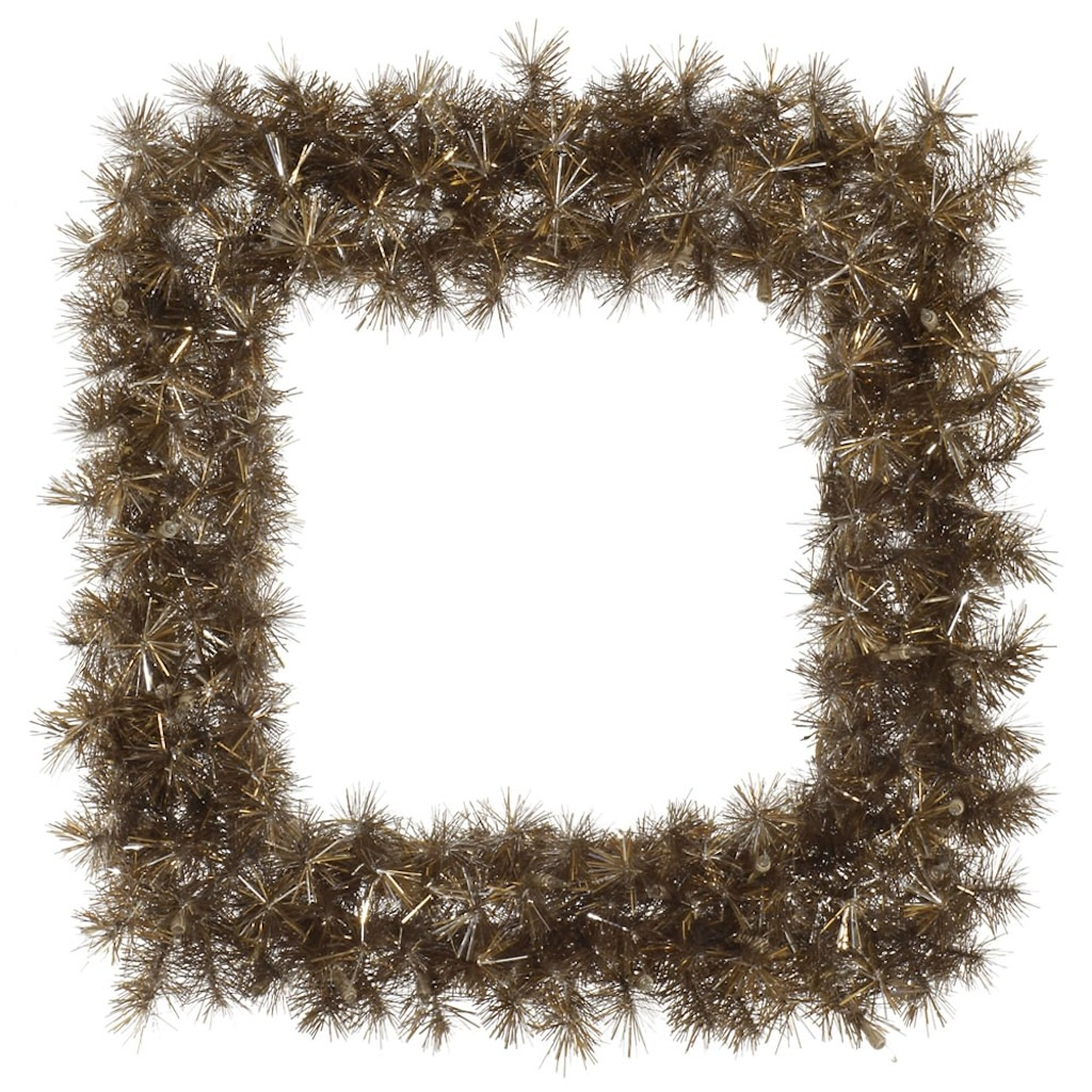 "Vickerman 333068 - 30"" Metal Mix Tinsel Square Christmas Wreath (A149167)"
