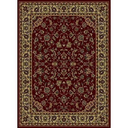 Vitaly Mesopotamia Area Rugs - 953 Traditional Oriental Burgundy Persian Bordered Floral Rug