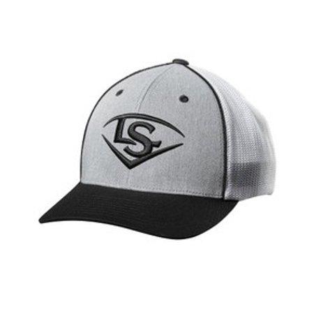 Louisville Slugger L/S Shield Flex Fit Mesh Back Baseball Cap Hat Logo (S/M)