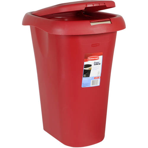 Rubbermaid Touch-Top 8.75-Gallon Waste Can, Red