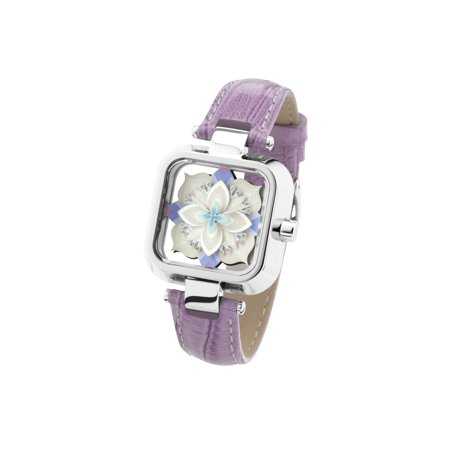 Crossover Sasu Mini Untitled White Silver Analogue Watch With Leather Strap ()