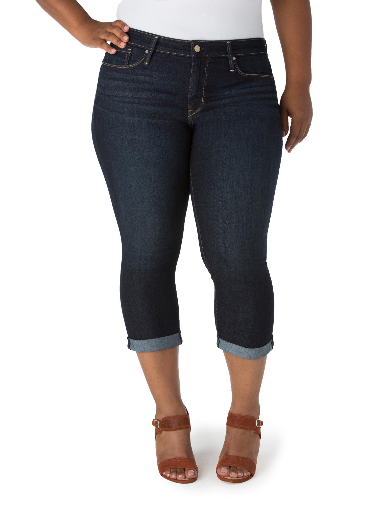 Women's Plus Modern Capri Jeans