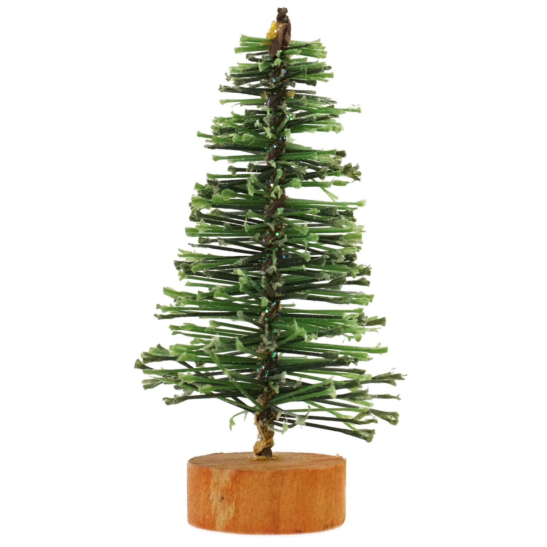 "3"" Green Bottle Brush Artificial Mini Pine Christmas Tree"