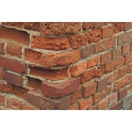 LAMINATED POSTER Stone Wall Bricks Old Break Up Wall Old Brick Wall Poster Print 11 x