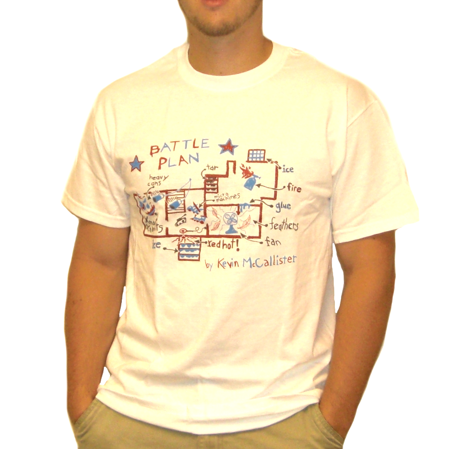 Battle plan t shirt kevin mccallister home alone movie blueprint this button opens a dialog that displays additional images for this product with the option to zoom in or out malvernweather Image collections