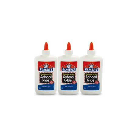 - (3 Pack) Elmer's Washable Liquid School Glue, 7.6 oz