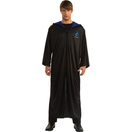 Morris Costumes Rubie's Mens Harry Potter Ravenclaw Robe Black hooded robe with clasp. Adult extra large fits sizes 44-46., Style RU889966XL (Ravenclaw Robes)