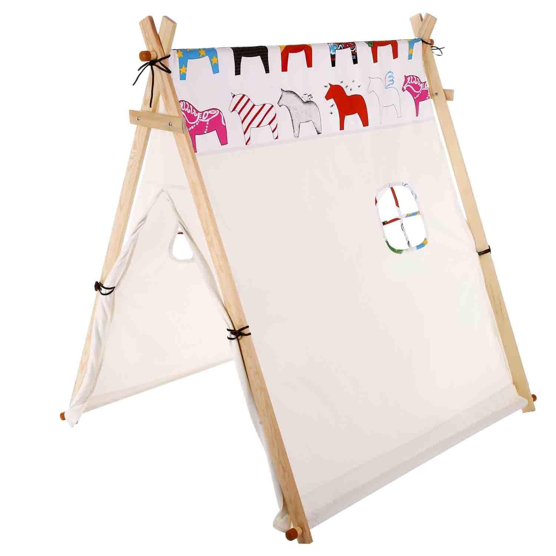 "Kids Teepee Tent 50.7 x 39 x 50.7 "" Playhouse Portable Be..."