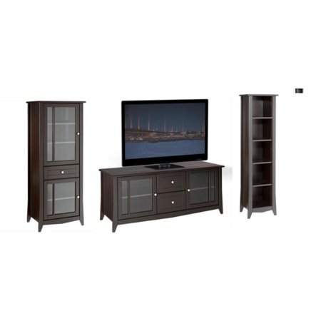 cheap for discount 4d54e 6b56a 3 Piece Entertainment Set with TV Stand and Media Curio Cabinets