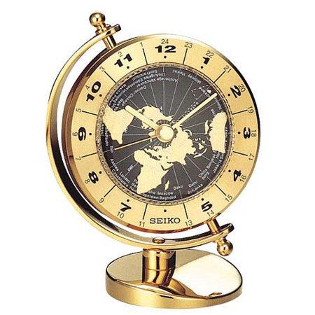 Seiko Brass World Time Desktop Clock