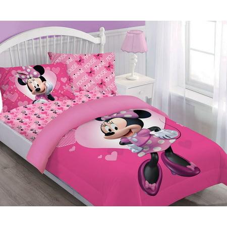 Disney Minnie Happy Helper Comforter Set W Fitted Sheet