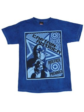 c9b1f841a Product Image captain america justice prevails marvel comics superhero  adult t-shirt tee