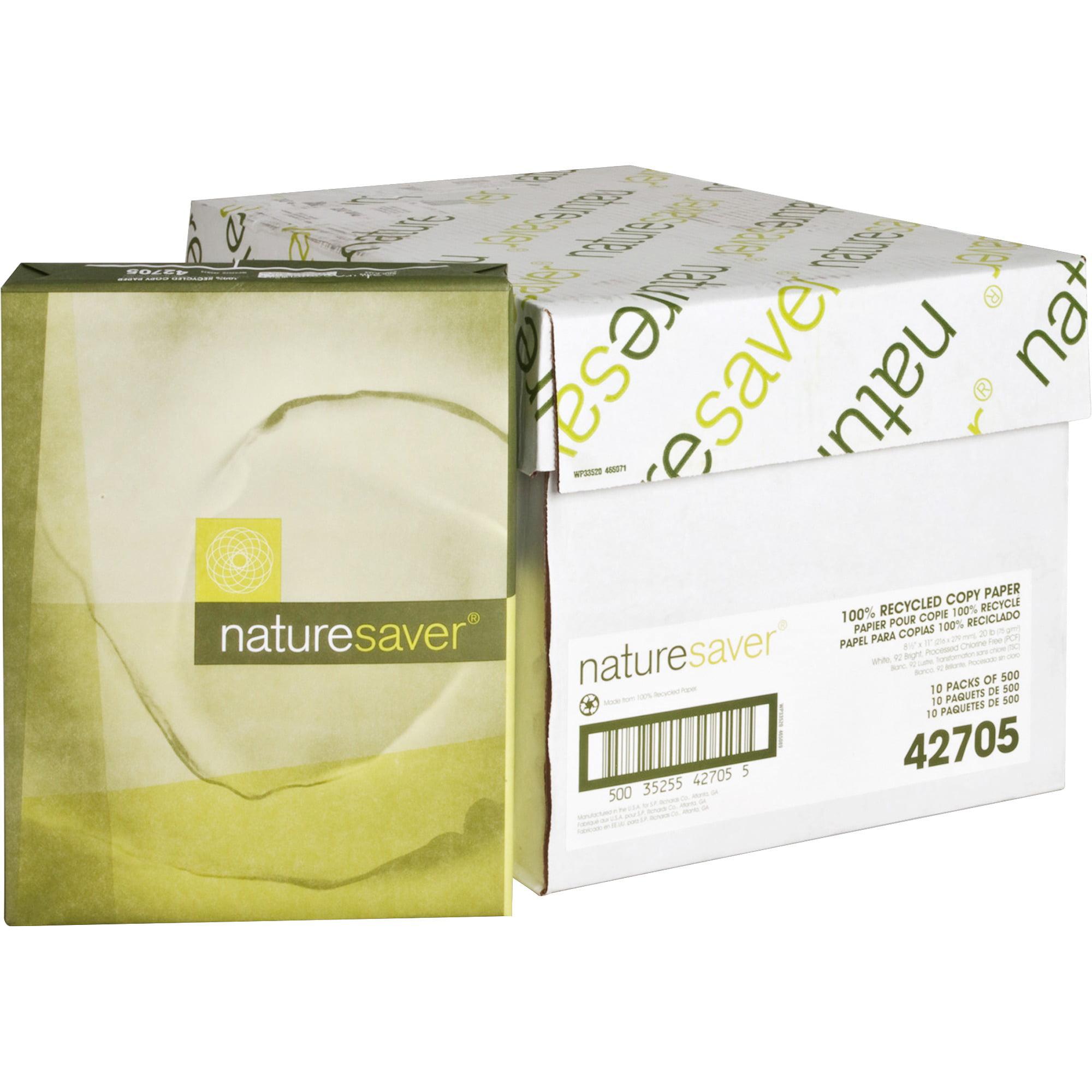 Nature Saver, NAT42705, Recycled Multipurpose Paper, 5000 / Carton, White