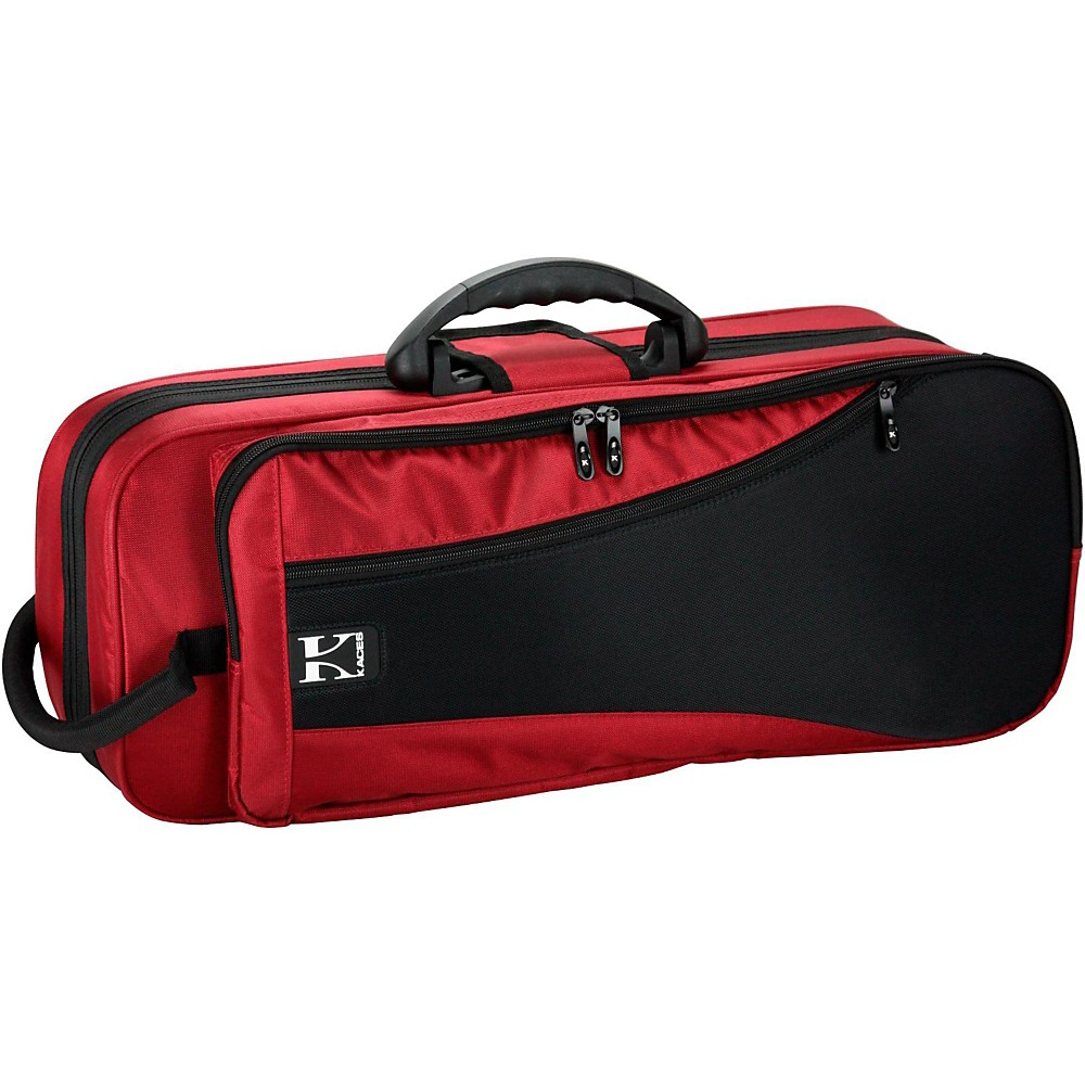 Kaces KBF-RTP4 Polyfoam Lightweight Trumpet Case, Red Multi-Colored by Kaces
