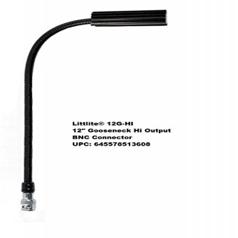 Littlite 12G-HI 12 Inch High-intensity 5 Watt Halogen Gooseneck Light with BNC Connector by Littlite