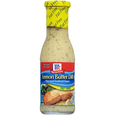 (2 Pack) McCormick Golden Dipt Lemon Butter Dill Fat Free Seafood Sauce, 8.7 fl -