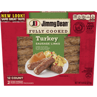Jimmy Dean® Fully Cooked Turkey Sausage Links, 12 Count