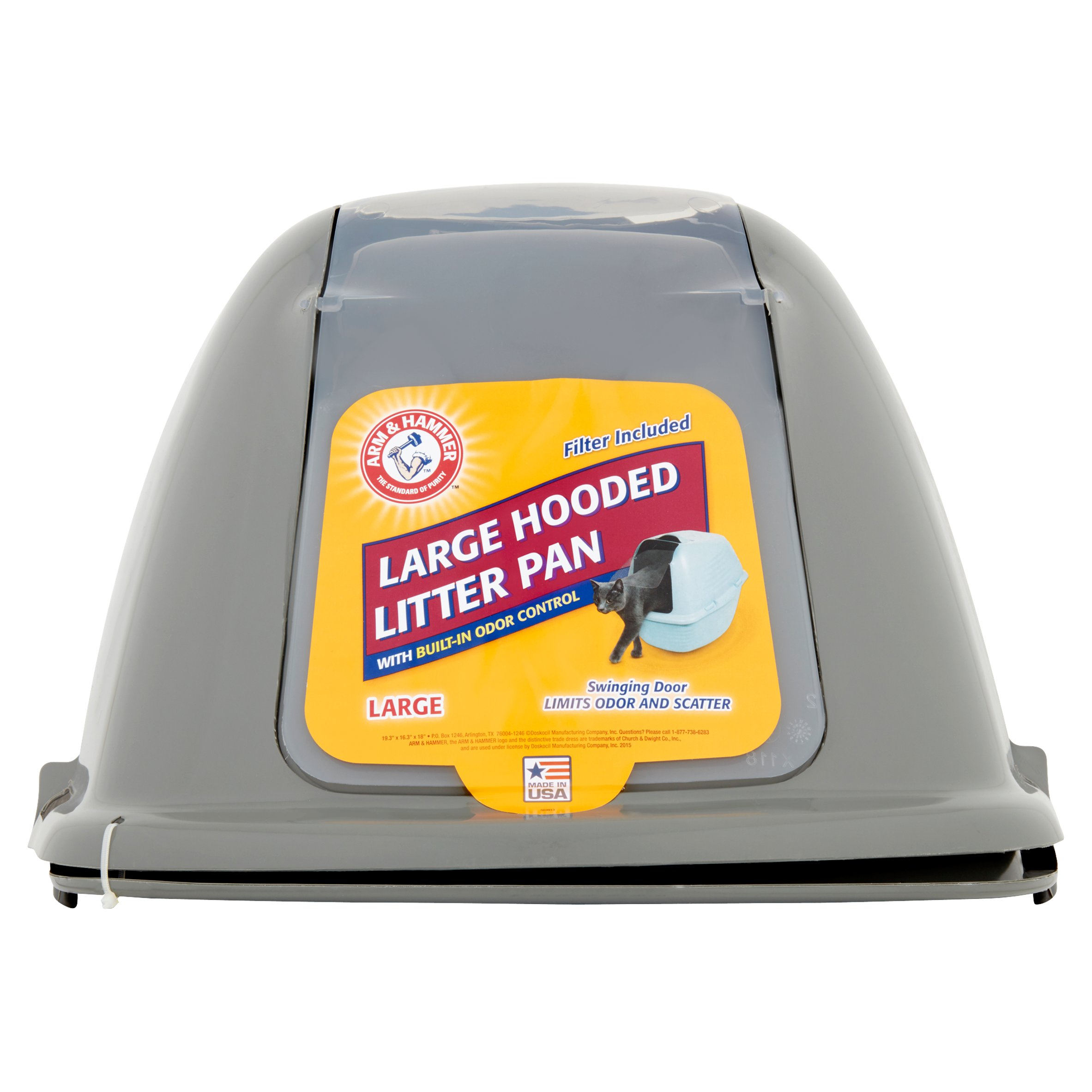 Arm & Hammer Covered Cat Litter Box, Large