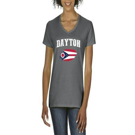Dayton Ohio Women V-Neck (The Green Dayton Ohio)