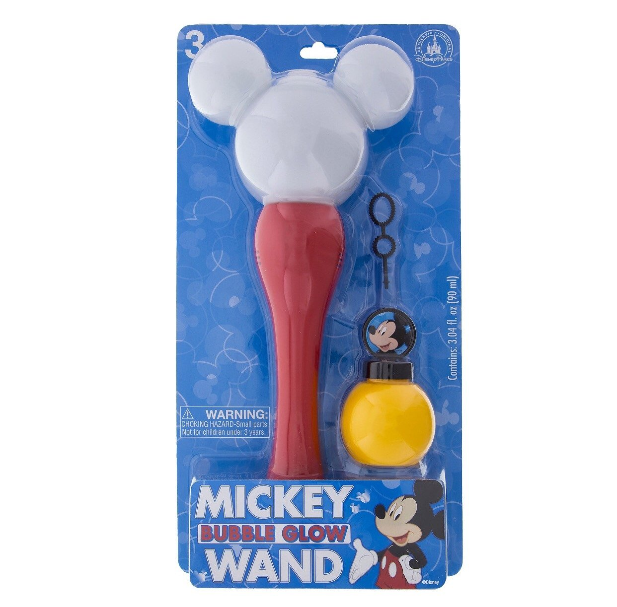 Disney Parks Mickey Mouse Glow Bubble Wand New with Box