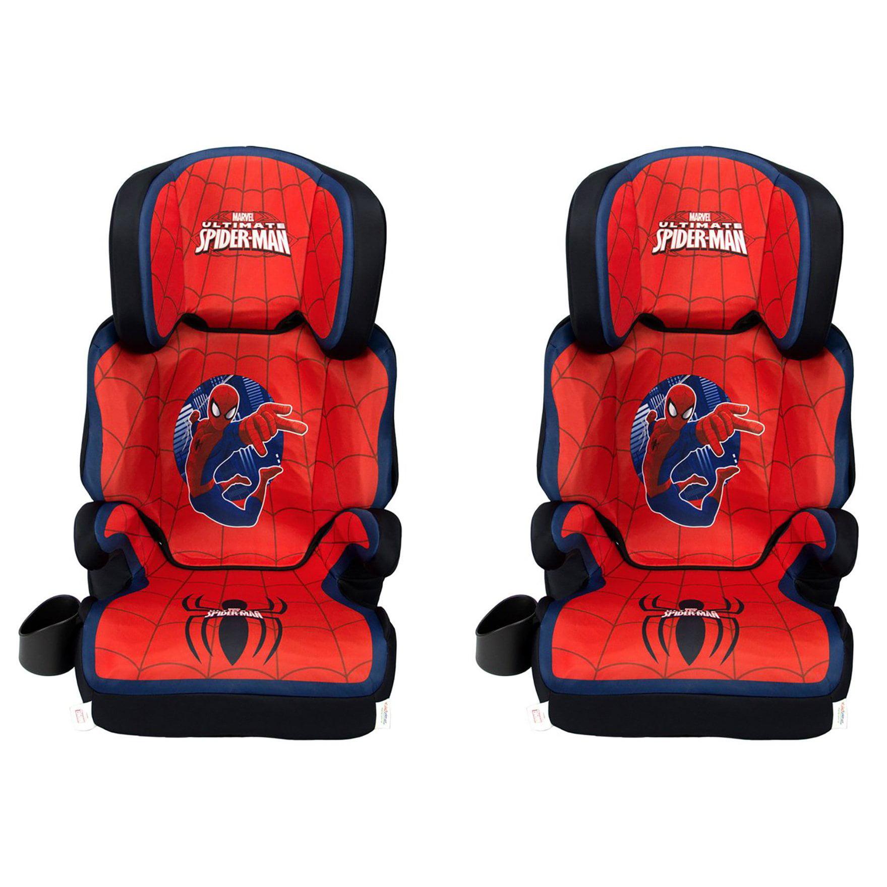 KidsEmbrace Marvel Spider Man High Positioning Back Booster Car Seat (2 Pack)