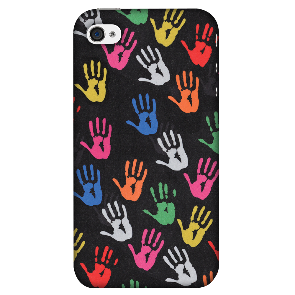 iPhone 4S Case, iPhone 4 Case - Colour Palms,Hard Plastic Back Cover, Slim Profile Cute Printed Designer Snap on Case with Screen Cleaning Kit