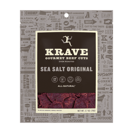 KRAVE Beef Jerky, Sea Salt Original, 2.7 Ounces